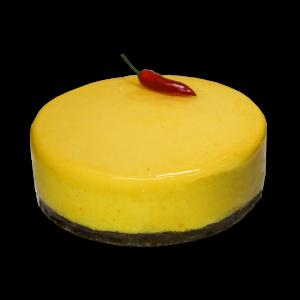 Chili-mango cake