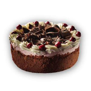 """Black forest"" cherry cake"